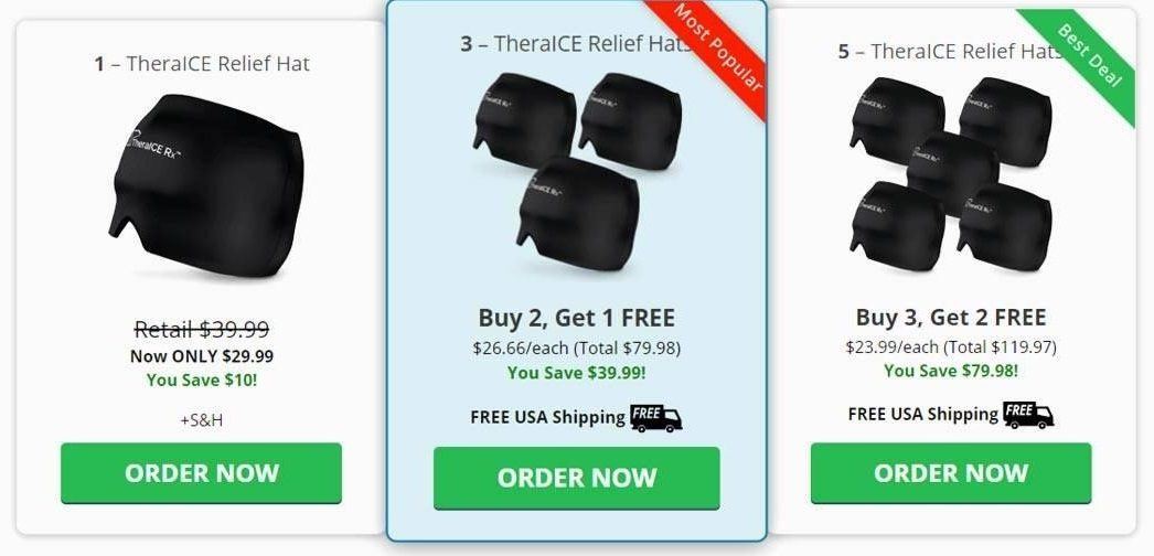 Purchasing TheraICE Headache Relief Hat